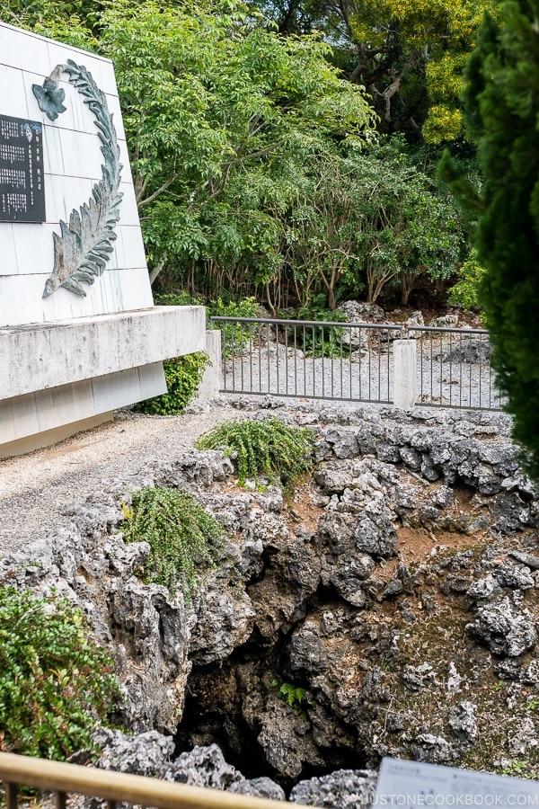 entrance of underground cave at Himeyuri Peace Museum - Okinawa Travel Guide | justonecookbook.com