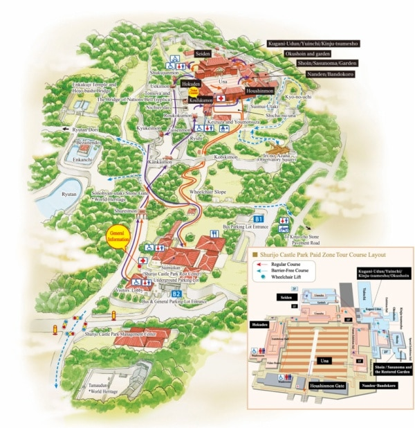 Map of Shuri Castle