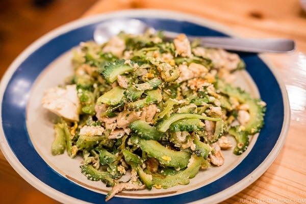 Nagumagai Restaurant goya champuru - Okinawa Travel Guide | justonecookbook.com