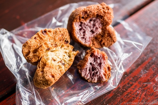 sata andagi Okinawan donuts - Okinawa Travel Guide | justonecookbook.com