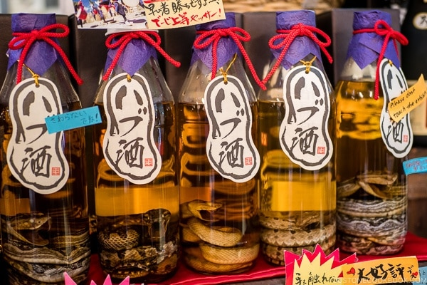Snake liquor - Habu wine - Okinawa Travel Guide | justonecookbook.com