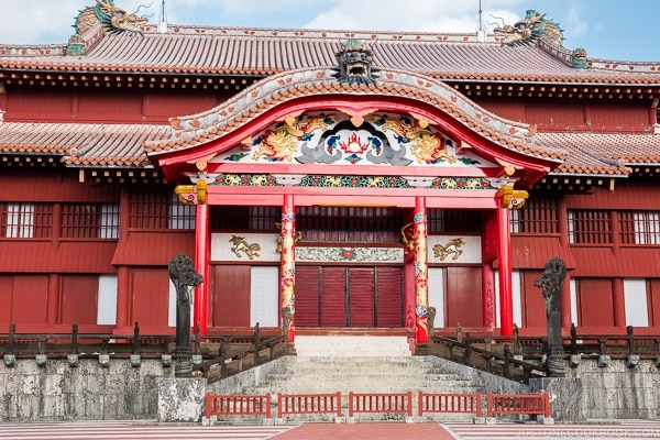 restored Shuri Castle Seiden - Okinawa Travel Guide | justonecookbook.com