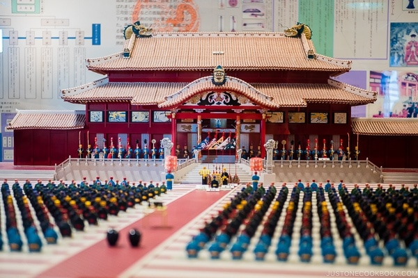 Model of Shuri Castle - Okinawa Travel Guide | justonecookbook.com