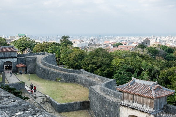 outer wall at Shuri Castle - Okinawa Travel Guide | justonecookbook.com