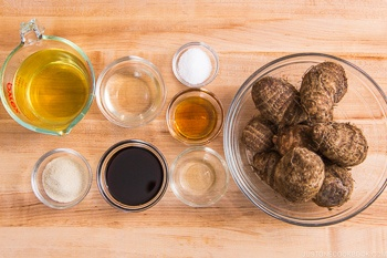 Simmered Taro Ingredients