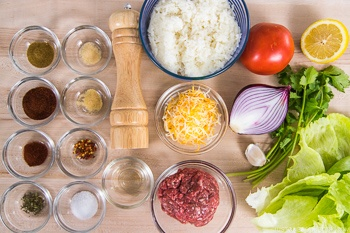 Taco Rice Ingredients