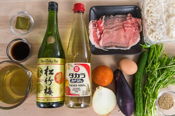 Cold Curry Udon Ingredients