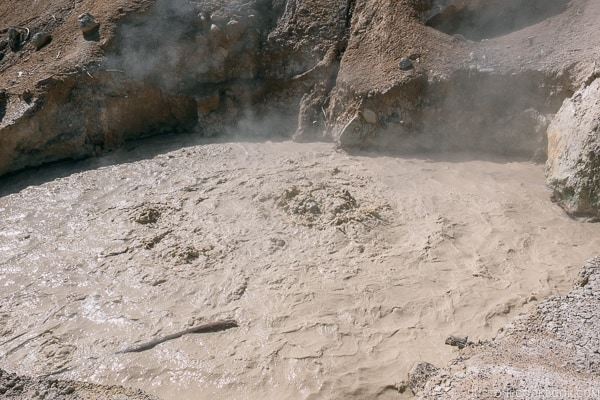Sulphur Work mud pots - Lassen Volcanic National Park Travel Guide | justonecookbook.com