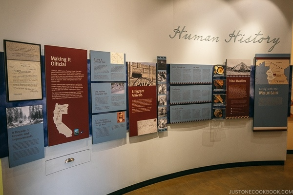 human history exhibits at Kohm Yah-mah-nee Visitor Center - Lassen Volcanic National Park Travel Guide | justonecookbook.com