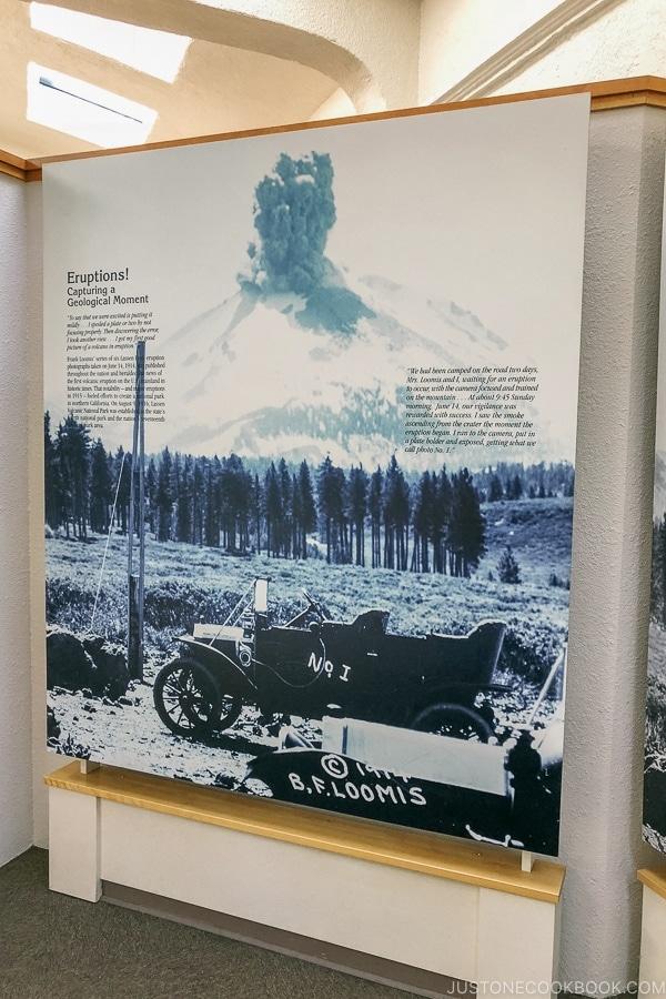 exhibition inside Loomis Museum - Lassen Volcanic National Park Travel Guide | justonecookbook.com
