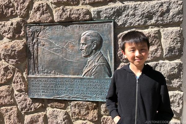 Stephen Mather plaque Loomis Museum - Lassen Volcanic National Park Travel Guide | justonecookbook.com