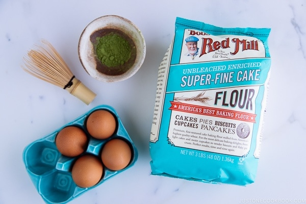 Matcha Souffle Pancake with Bob's Red Mill Super-Fine Cake Flour