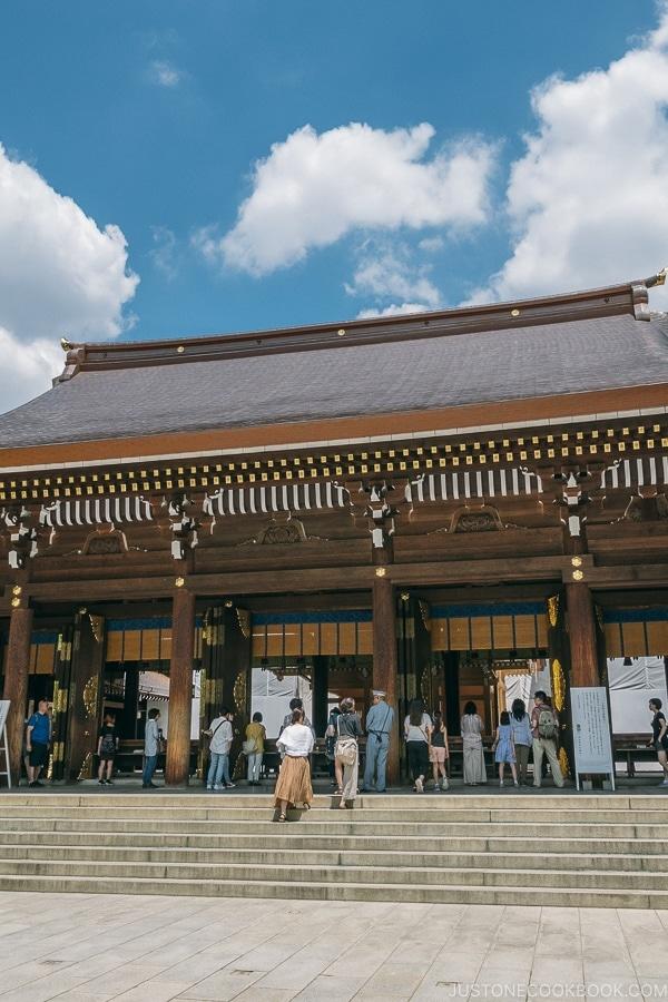 Main shrine building at Meiji Jingu