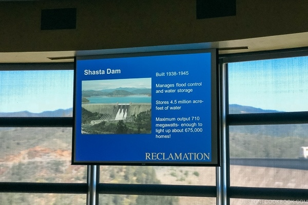 auditorium at Shasta Dam - Redding California Travel Guide | justonecookbook.com