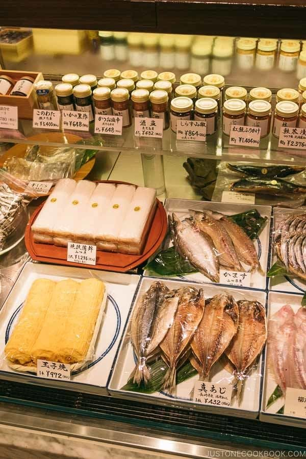 Japanese dried goods at Shinjuku Isetan Food Floor - Shinjuku Travel Guide | justonecookbook.com