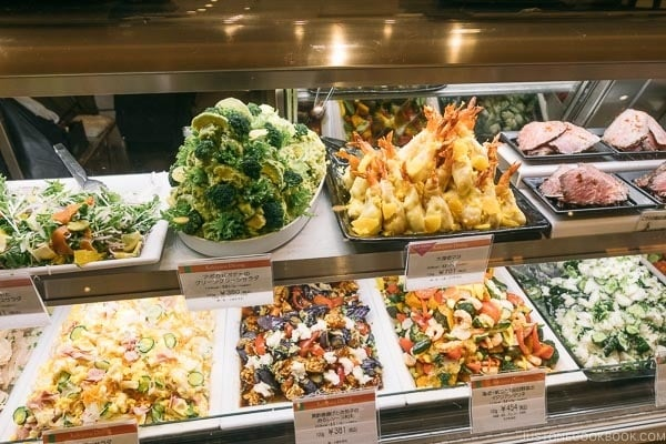deli and ready made food at Shinjuku Isetan Food Floor - Shinjuku Travel Guide | justonecookbook.com