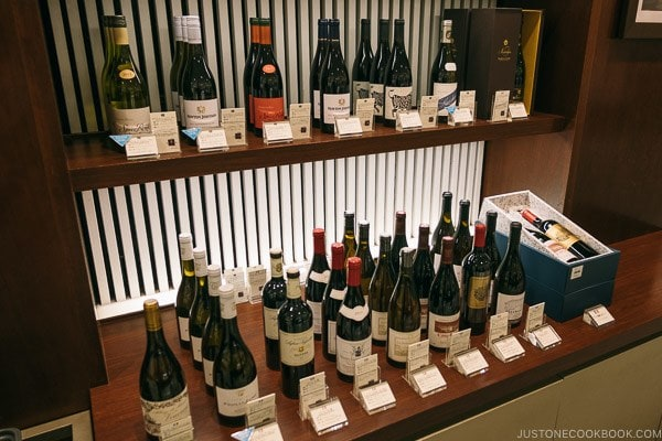 Wine shop Shinjuku Isetan Food Floor - Shinjuku Travel Guide | justonecookbook.com