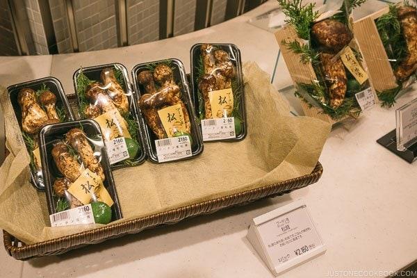 matsutake mushroom at Shinjuku Isetan Food Floor - Shinjuku Travel Guide | justonecookbook.com