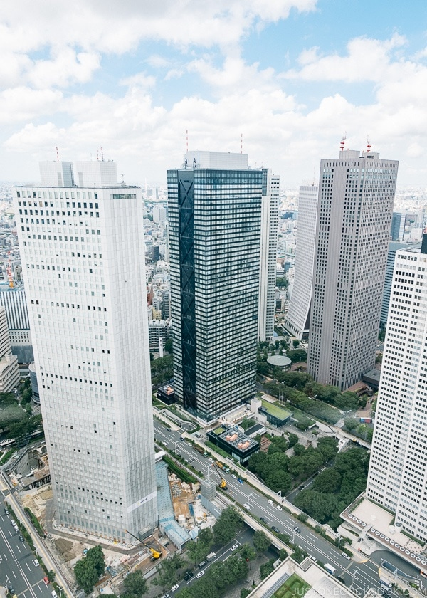 Shinjuku Skyscrapers - Shinjuku Travel Guide | justonecookbook.com