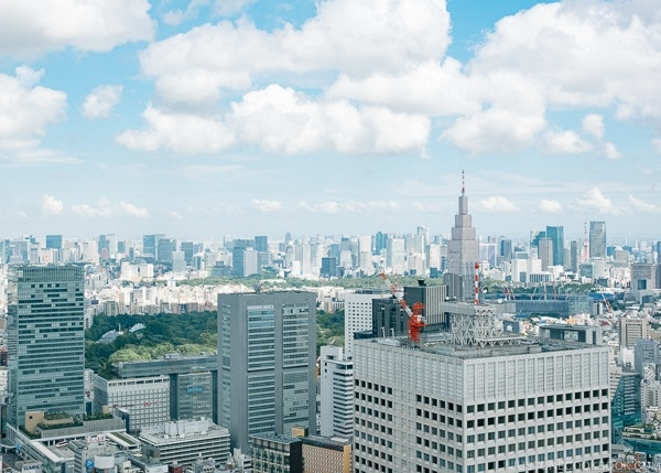 view of Tokyo skyline from Tokyo Metropolitan Government Building - Shinjuku Travel Guide | justonecookbook.com