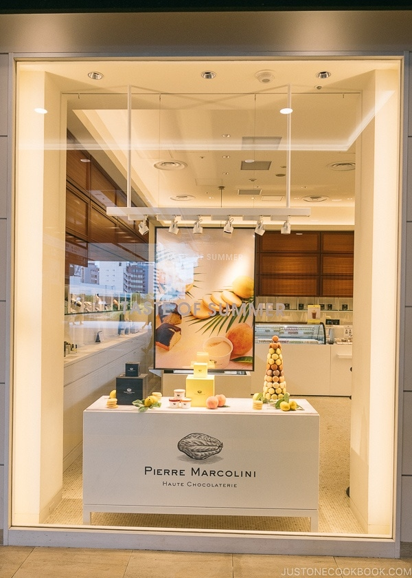Pierre Marcolini Haute Chocolaterie - Shinjuku Travel Guide | justonecookbook.com