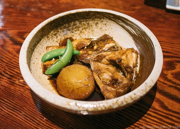sea bream head cooked in soy sauce at Zauo Shinjuku ざうお新宿店 - Shinjuku Travel Guide | justonecookbook.com