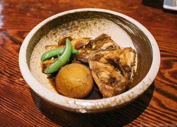 sea bream head cooked in soy sauce at Zauo Shinjuku ざうお新宿店 - Shinjuku Travel Guide | justonecookbook.com