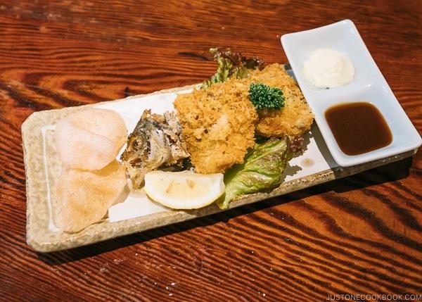fried aji at Zauo Shinjuku ざうお新宿店 - Shinjuku Travel Guide | justonecookbook.com