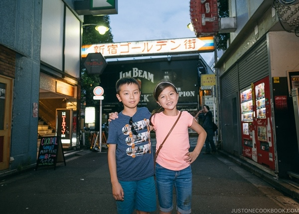 Just One Cookbook children at Golden Gai - Shinjuku Travel Guide | justonecookbook.com
