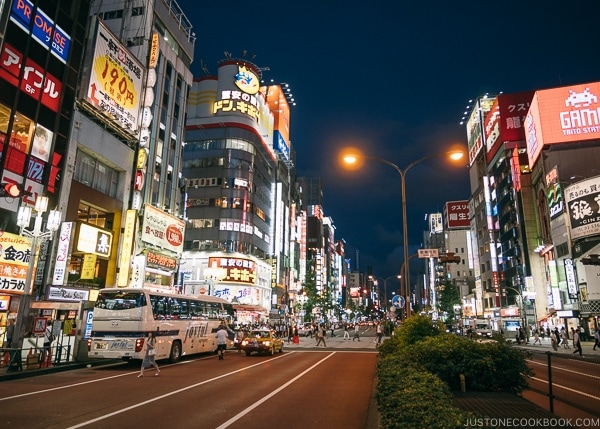 Shinjuku at night - Shinjuku Travel Guide | justonecookbook.com