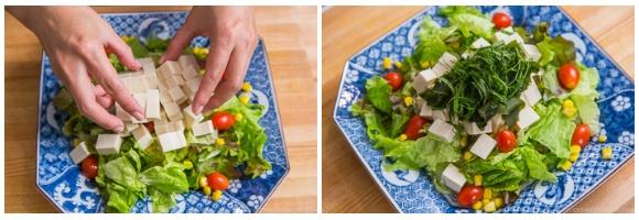 Tofu Salad with Sesame Ponzu Dressing 7