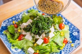 Tofu Salad with Sesame Ponzu Dressing 8