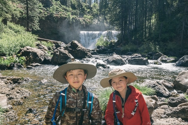 Just One Cookbook children near Middle Falls McCloud River - Mount Shasta Travel Guide | justonecookbook.com