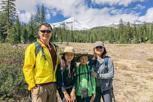 Just One Cookbook family at Mount Shasta - Mount Shasta Travel Guide | justonecookbook.com