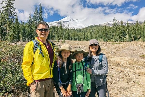 Just One Cookbook family at Mount Shasta - Mount Shasta Travel Guide   justonecookbook.com