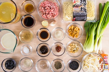 Black Sesame Dan Dan Noodles Ingredients