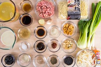 Black Sesame Dan Dan Noodles Ingredients