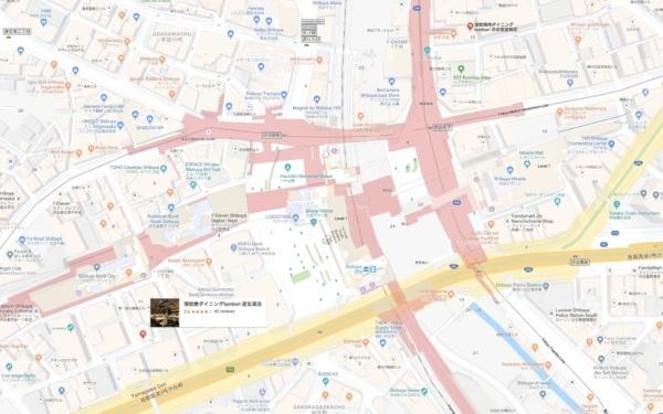Bonbori Shibuya Google Map