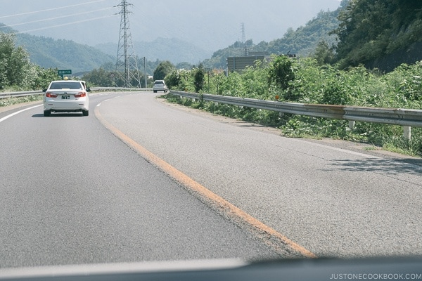 yellow divider line - Guide to Driving in Japan | www.justonecookbook.com