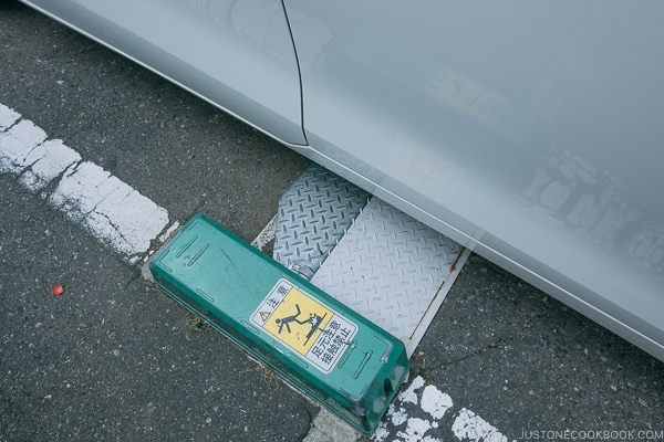 parking lot car lock - Guide to Driving in Japan | www.justonecookbook.com