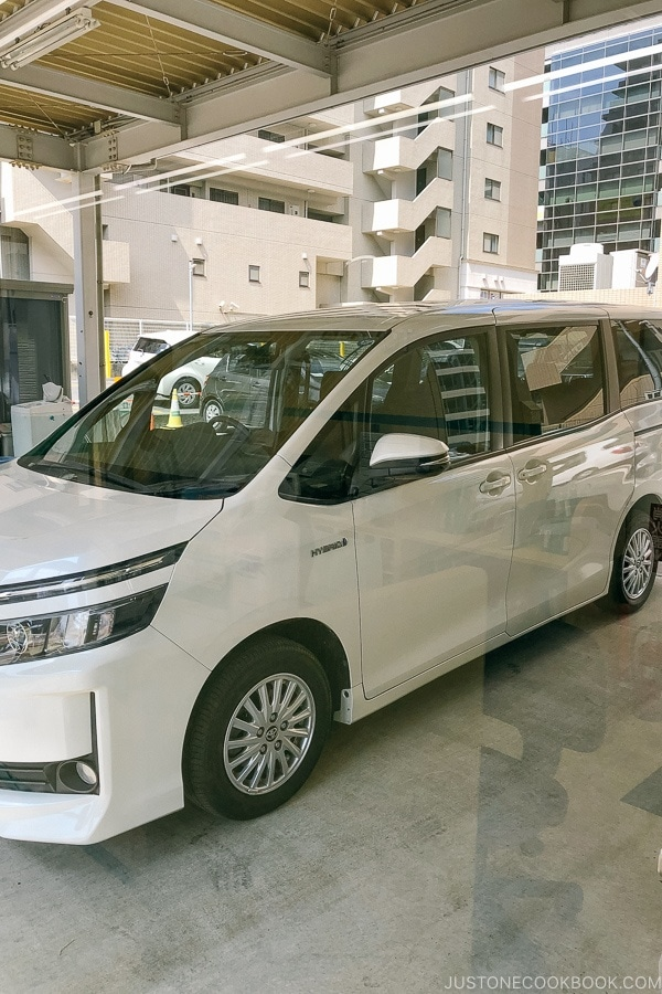 Toyota rental car - Guide to Driving in Japan | www.justonecookbook.com