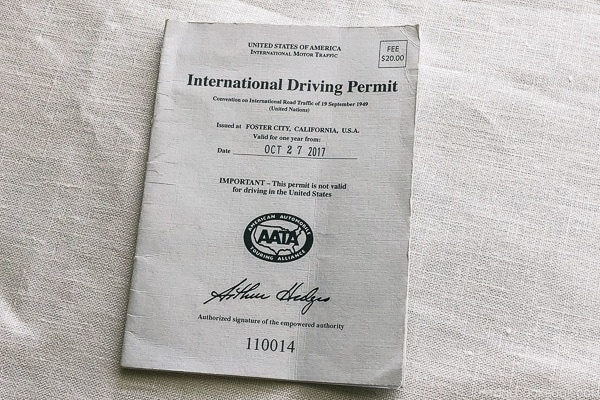 International driving permit - Guide to Driving in Japan | www.justonecookbook.com