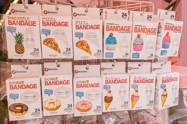 food design bandages - Harajuku Travel Guide | www.justonecookbook.com