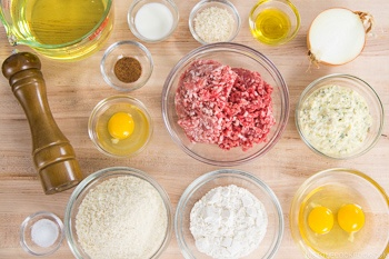 Menchi Katsu Ingredients