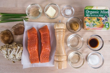Miso Butter Salmon Ingredients