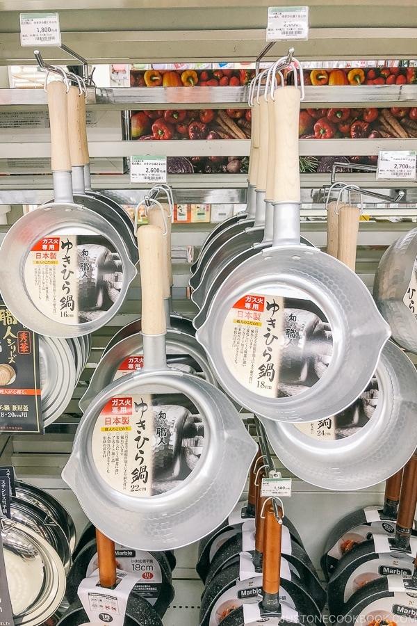 Japanese pots at Tokyu Hands - Tokyo Shibuya Travel Guide | www.justonecookbook.com