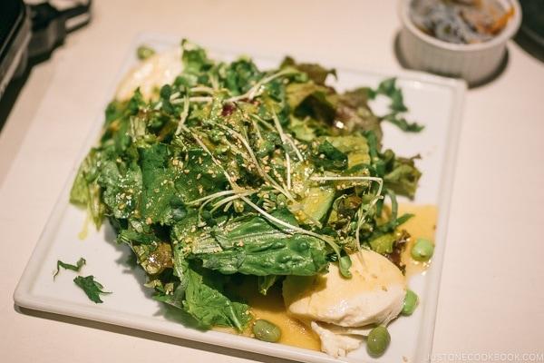 salad at Bonbori Shibuya - Tokyo Shibuya Travel Guide | www.justonecookbook.com