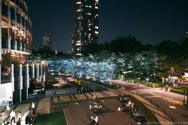 Tokyo Midtown Garden at night - Tokyo Roppongi Travel Guide | www.justonecookbook.com