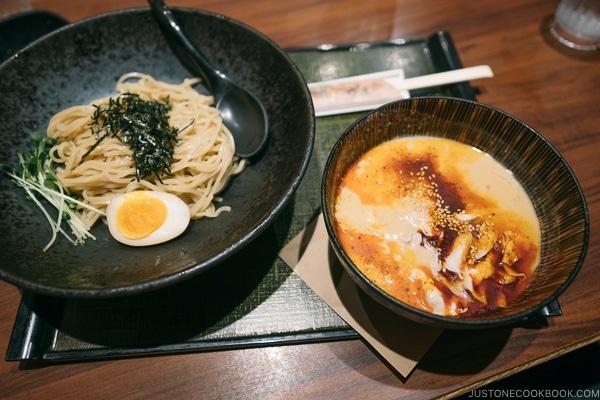 Noko goma hiyashi tsukemen menshou-taketora Roppongi - Tokyo Roppongi Travel Guide | www.justonecookbook.com
