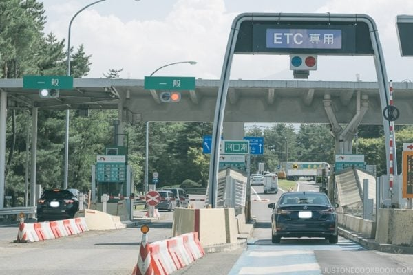 Japan ETC highway lane - Guide to Driving in Japan   www.justonecookbook.com
